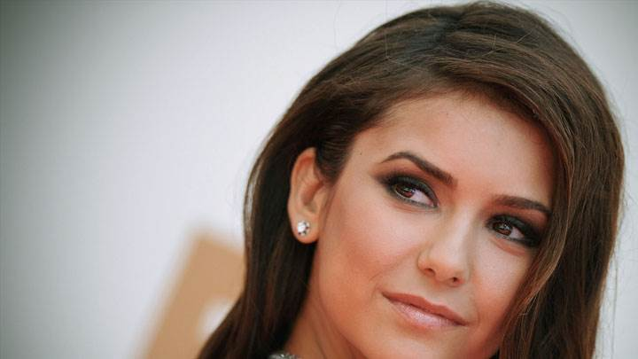 Nina Dobrev Looking Side And Cute Smiling Face Closeup